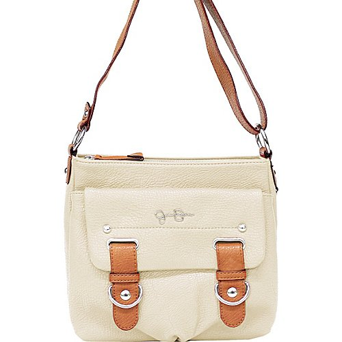 Jessica Simpson Purse Handbag Sheila Crossbody Cream/Whiskey JS4441