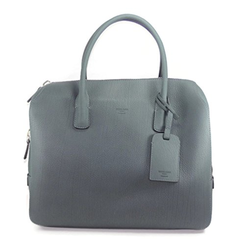 Giorgio Armani Top Handle Handbag Leather Special Limited Edition Dark Green Gray