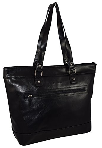 Franklin Covey Women's Business Tote Bag With Padded Compartment For Laptop Up To 15.4″ – Black