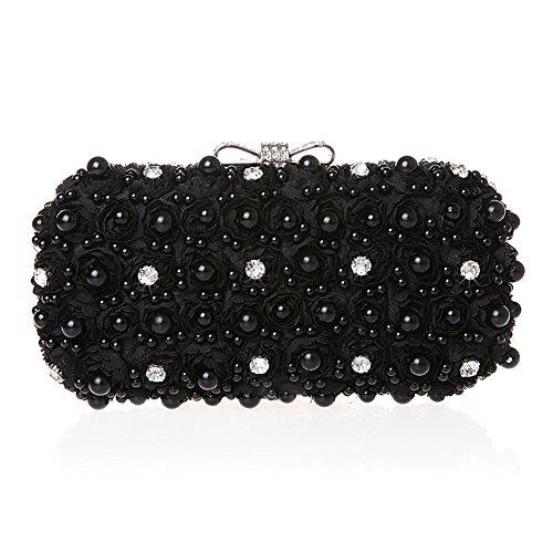 TopTie Glamorous Flower Imitation Pearl Hard Case With Diamante Bow Clasp