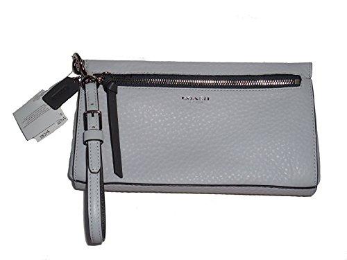 Coach Block Edge Wristlet Clutch Handbag