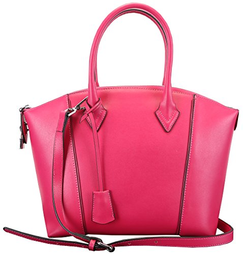 Heshe New Women's Genuine Leather Vintage Top Handle Tote Crossbody Shoulder Bag Satchel Purse Handbag for Ladies