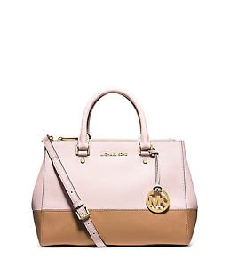 Michael Kors Sutton Medium Satchel Blossom/suntan Leather