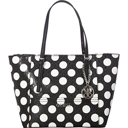 GUESS Women's Delaney Polka-Dot Small Classic Tote
