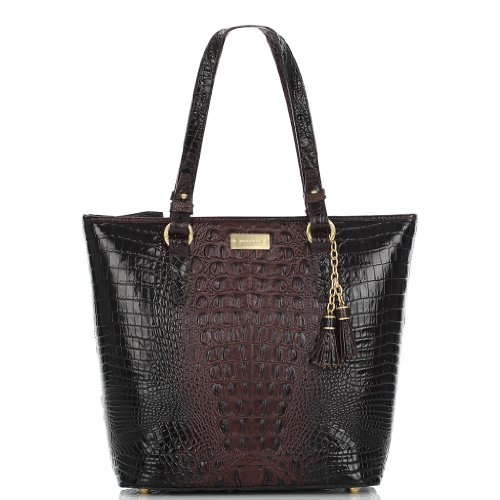 Brahmin Asher Tote Bag in Croco Embossed Leather