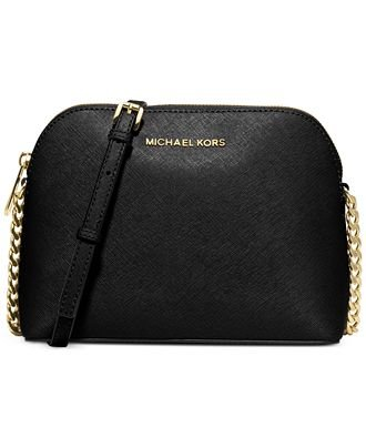 Michael Kors Cindy Large Dome Crossbody BLACK