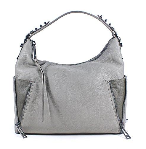 Botkier Leroy Hobo Gray Olive Leather Shoulder Bag Purse