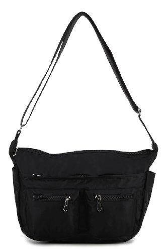 Scarleton Front Pocket Nylon Shoulder Bag H1494