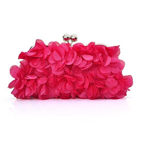 TopTie Petal Clutch Charming Floral Evening Bag Wedding Bag