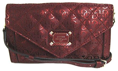GUESS Juliet Mini Wallet On A String Crossbody Bag, Lipstick