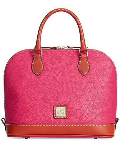 Dooney & Bourke Pebble Grain Zip Zip Satchel Strawberry