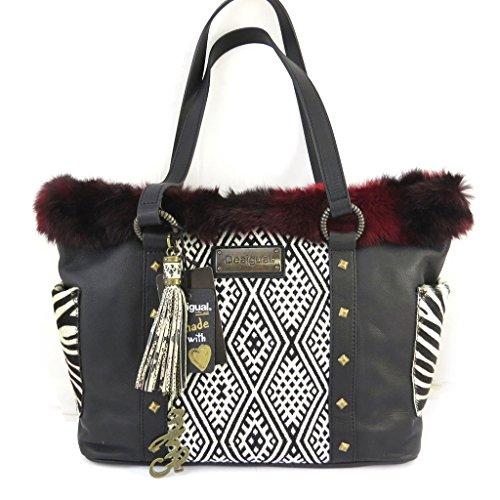 Leather bag 'Desigual'red black.
