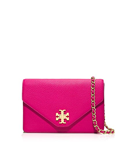 Tory Burch Kira Envelope Cross-Body Carnation Red Gold