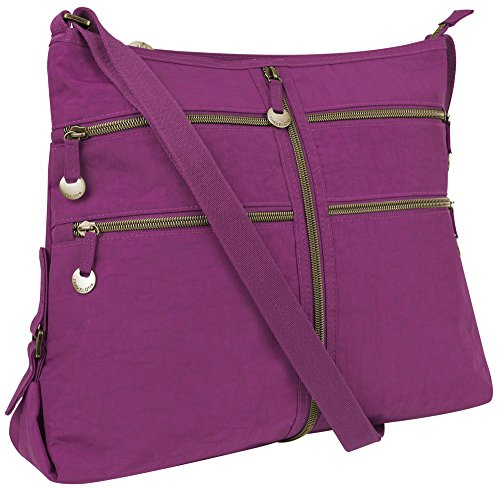 Travelon RFID Expanding Convertible Crossbody Bag – Orchid
