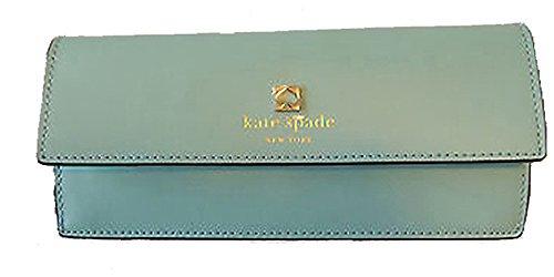 Kate Spade Sawyer Street Amelia Clutch Wallet Robinsegg Blue Leather