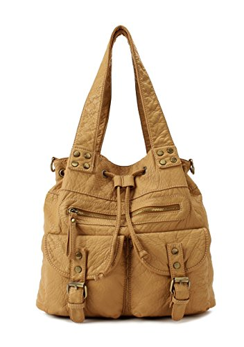 Scarleton Soft Washed Drawstring Shoulder Bag H1629
