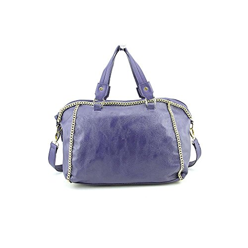Steve Madden DB190925 Womens Blue Purse Faux Leather Satchel