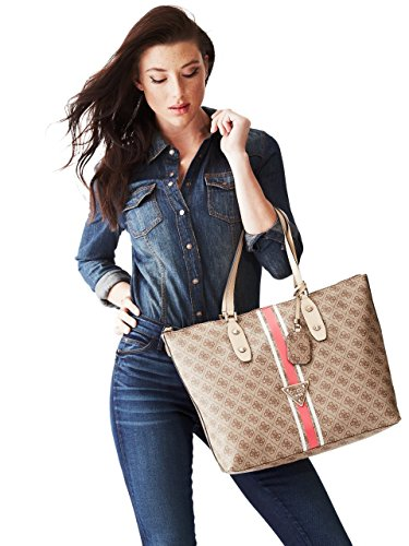 GUESS Women's Logo Sport Large Brown Tote
