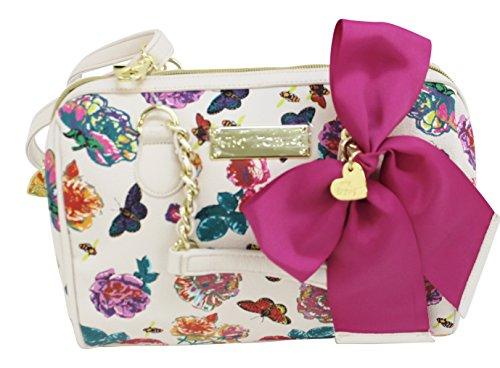 Betsey Johnson Medium Speedy Handbag Purse Be Mine Floral