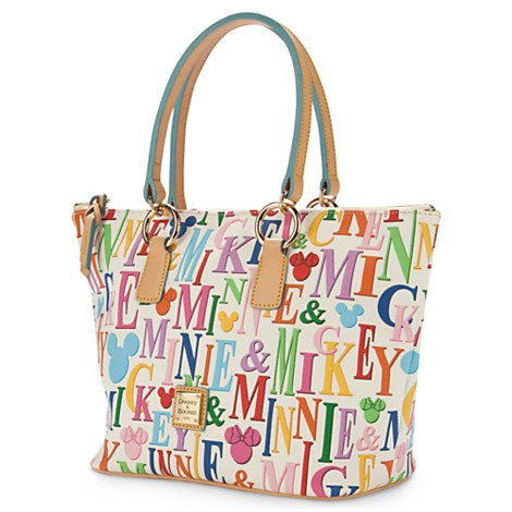 Dooney & Bourke Mickey & Minnie Rainbow Shopper Handbag Multi
