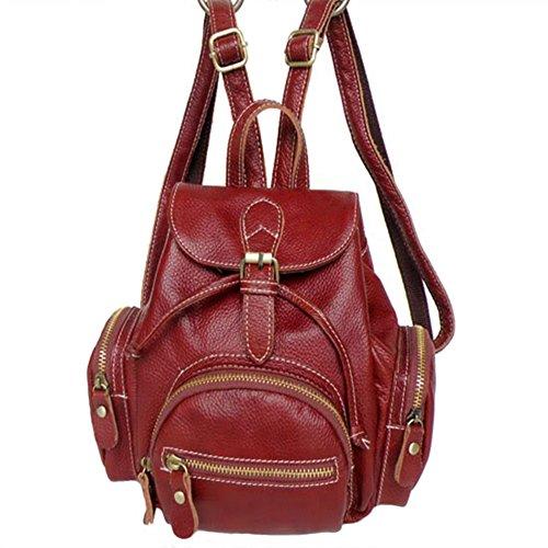 'Lisa' Designer Casual Backpack for Women (Red)