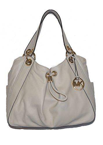 Michael Kors Ludlow Large Shoulder Bag Genuine Leather Vanilla