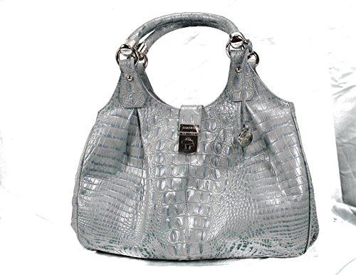 Brahmin Elisa Tote in Croco Embossed Leather