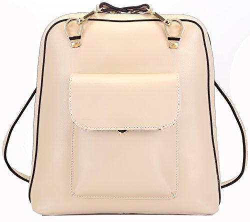 Heshe Fashion Genuine Leather Office Ladies School Girl Backpack Purse Handbag Shoulder Bag
