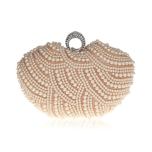 TopTie Cute Wedding Hard Case, Apple Shaped Imitated Pearl Studded