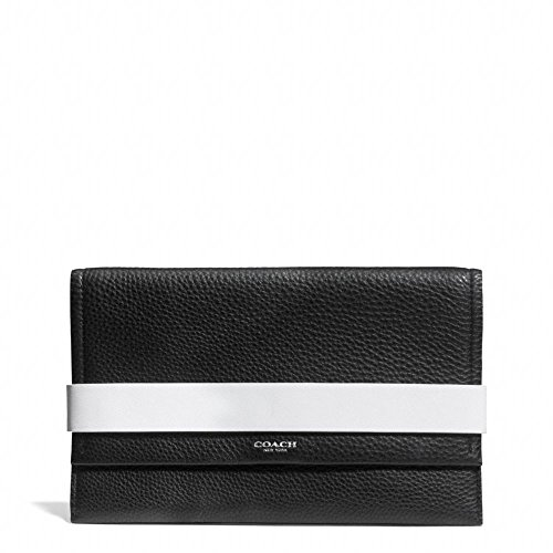 Coach Bleecker Clutch In Edgepaint Leather (Silver/Black/White)