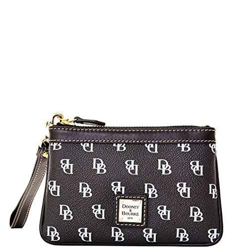 Dooney & Bourke Gretta Signature Medium Wristlet Black/Black
