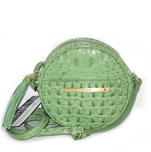 NEW AUTHENTIC BRAHMIN BELLE CANTEEN CROSSBODY SHOULDER BAG (Aloe Glossy Melbourne)