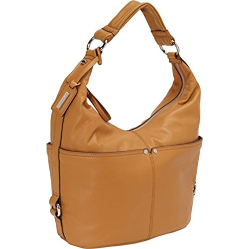 Tignanello Women Polished Pockets Hobo Leather Handbag