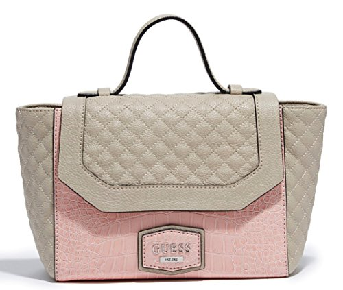 Guess G Logo Purse Satchel Cross Body Shoulder Hand Bag Blush Multi Leena