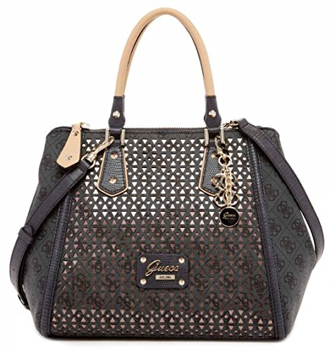 GUESS Park Lane Park Lane Retro Satchel Bag, Coal