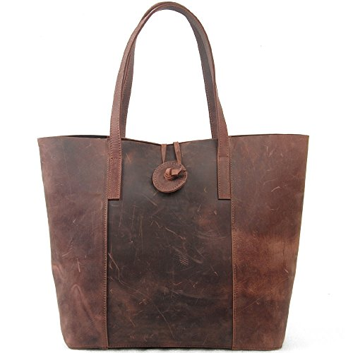 TOP-BAG® New Vintage Cow Leather Handbag, Tote Bag, MC506