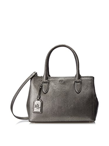 Lauren Ralph Lauren Newbury Snake Double Zip Shopper