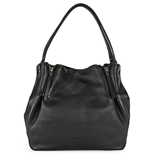 Burberry Maidstone Black Full Grain Leather Medium Hobo Bag