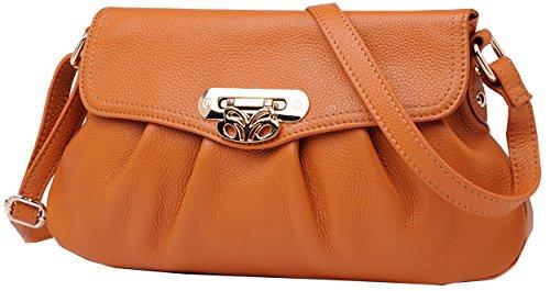Heshe 2014 New Fashion Soft Genuine Leather Cross Body Shoulder Bag Handbag Easy Carry