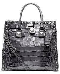 Michael Kors Handbag Hamilton Large North South Tote Grey