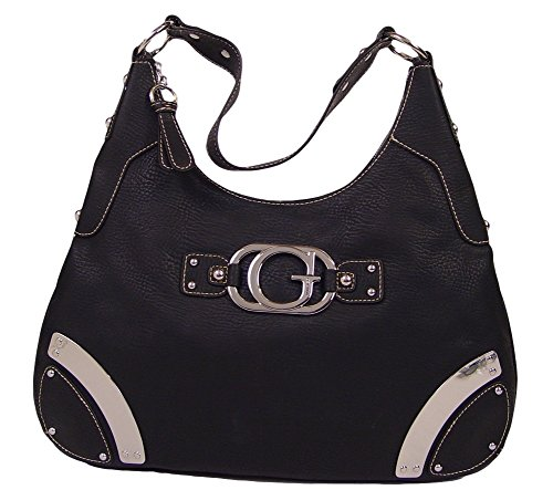 GUESS Vermont Large Hobo Bag Handbag Purse, Black