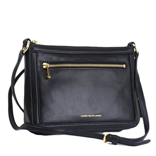 Lauren Ralph Lauren Leather Winford Crossbody – Black