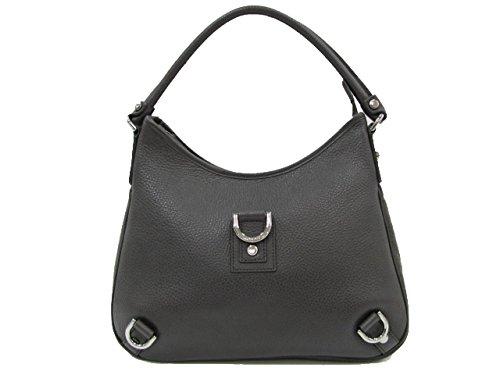 Gucci Medium Black Leather D Ring Hobo Bag 268637