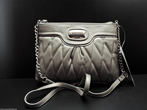 Anne Klein 2 Handbag Pewter Crossbody Top Zip