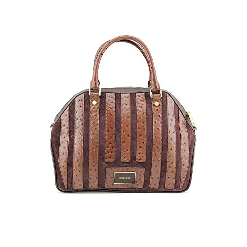 Brahmin Hudson Satchel Handbag-Papaya Prague