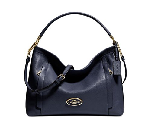 Coach Scout Hobo in Pebble Leather in Pale Blue