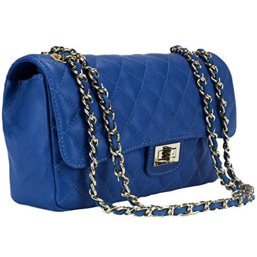 HS 6078 CB DITA Made in Italy Cobalt Blue Shoulder Bag