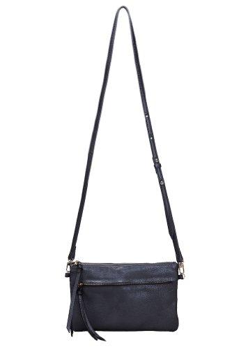 Handbag Butler Mighty Purse Luxe Cross Body Bag Purse Clutch Black