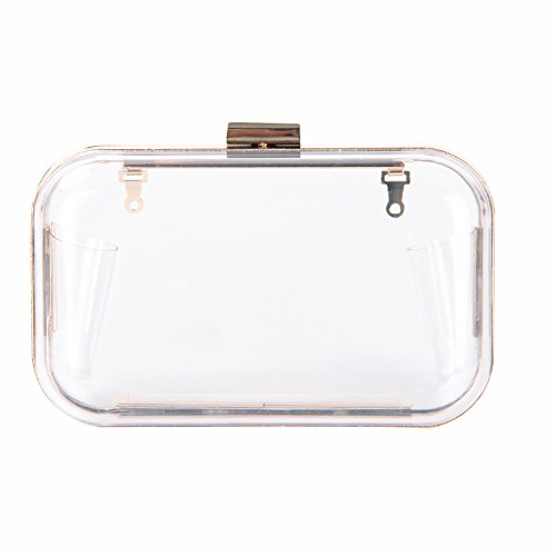 Egelbel Women Luxury Transparent Rectangle Clear Evening Clutches Shoulder Purse P
