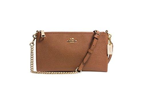 New Coach 52385 Kylie Crossbody Leather Handbag Saddle